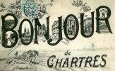 28-BONJOUR DE CHARTRES...CPA MULTIVUES - Chartres