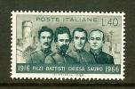 ITALIA 1966 MNH Stamp(s) Battisti 1218 - 6. 1946-.. Republic