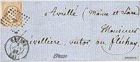 MARCOPHILIE - ANGERS 1857 YVERT N°13A FRANCE - 1849-1876: Période Classique