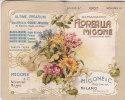 """CALENDARIETTO  PROFUMATO ALMANACCO """"FLORALIA LINGUAGGIO DEI FIORI"""" CON CALENDARIO1907 MIGONE MILANO - 2 --0882-13180-179 - Petit Format : 1901-20"""