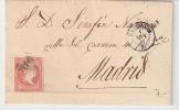 Edifil. 48 Tipo II. Envuelta De Valencia A Madrid - 1850-68 Reino: Isabel II