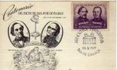 CENTENARIO DEL PACTO DE SAN JOSE DE FLORES  1859  1959  TARJETA 1ER DIA DE EMISION OHL - Timbres