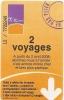Titre De Transport... 2 Voyages  BUS..... Ticket  METZ - Europe