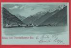 VIERWALDSTÄTTERSEE, FLÜELEN IM MONDSCHEIN, LITHO 1898 - UR Uri
