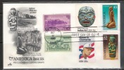 US 1989  25c & 45c Pre Columbian Art On Artcraft Combo FDC  RenaM - First Day Covers (FDCs)