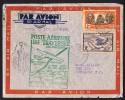 1940  Lettre Pour Honolulu Par Premier Vol Nouvelle-Calédonie -USA   Yv 153, PA 31 - Luftpost