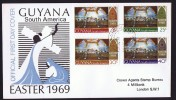 1969  Easter  Issue FDC - Guyana (1966-...)