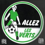 RFRA152 42 LOIRE SAINT-ETIENNE Autocollant FOOTBALL  Allez Les Verts ASSE - Voetbal