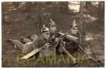 C590 - WWI - Soldats Allemands Avec Mitrailleuse - Militaria