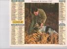 Calendrier Du Facteur 1997 ( Chasse Et Pêche ) - Calendriers