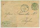 RUYSBROECK 1887 Naar ISEGHEM 1887   Klasseergaatjes Links - 1869-1883 Léopold II