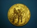 MEDAILLE SPORT ATHLETISME COURSES De CROSS En Bronze Dorée - Athletics