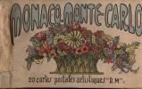 CARNET DE 20 CARTES POSTALES ARTISTIQUES MONACO-MONTE-CARLO - Monaco