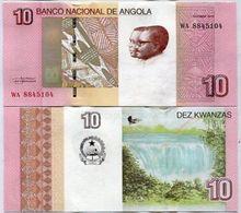 ANGOLA 10 KWANZAS 2012 / 2017 P NEW DESIGN - Angola