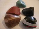 "AVENTURINE(1""), RED JASPER(9/8""),ZEBRA JASPER(9/8""),PETRIFIED WOOD(1""), SARDONYX(1"") - Minerals"
