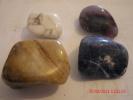 """HOWLITE(3/4""""), FLUORITE(1""""), SERPENTINE(9/8""""), & SODALITE(1"""") - Minerals"""