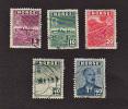 S7420 Norway 1943/45 ( 5 Stamps )   ( Sc# 259,261c263c265c266 )  CH - Noorwegen