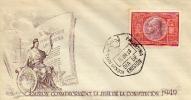 EMISION CONMEMORATIVA DE LA JURA DE LA CONSTITUCION 1949 SOBRE 1ER DIA DE EMISION OHL - FDC