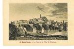 LIMOGES -HAUTE VIENNE- Le Pont Et La Ville De Limoges -  Cpa Gravure - Dos Disé - PAYPAL SANS FRAIS - Limoges