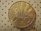 YUGOSLAVIA  200 Dinara 1977 TITO 14.95 Grams - Yugoslavia