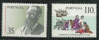 Portugal 1991 Datas Da Historia 1º Cent Morte Antero De Quental Poet First Missionaries To Congo  Setof 2 MNH - Other