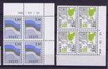 Estland Eesti, 1991 Michel 194 + 175 In Cornermargins With Print Data, MNH / Neuf** - Estonie