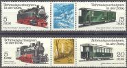 1981 Schmalspurbahnen II ZDR Michel 2629-32 / Scott 2205-6 / YT 2284-7 Postfrisch/neuf Sans Charniere/MNH - Ungebraucht