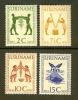 SURINAME 1955 Hinged Stamp(s) Food 354-357 - Surinam ... - 1975