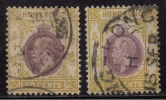 Hong Kong Used  1921, Multi Script, 2 Diff., Shades, (SG127&127a),30c Purple & Orange-Yellow & Purple And Ch - Hong Kong (...-1997)