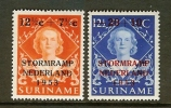 SURINAME 1953 Hinged Stamp(s) Innondation Fund 330-331 - Surinam ... - 1975