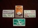 KUT 1968 OLYMPIC GAMES, MEXICO Issue 4 Values To 2/50  MNH. - Kenya, Uganda & Tanzania