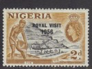 Nigeria ~ Royal Visit (ovpt) ~ SG 81 ~ 1956 ~ MH/MM - Nigeria (...-1960)