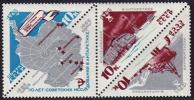 USSR Russia 1966 -10th Anniversary Of Antarctic Reseach Map Ship Snow Vehicle Car MNH Michel 3181-3183 Scott 3162-3164 - Collections