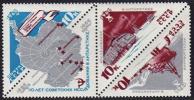 USSR Russia 1966 -10th Anniversary Of Antarctic Reseach Map Ship Snow Vehicle Car MNH Michel 3181-3183 Scott 3162-3164 - 1923-1991 USSR