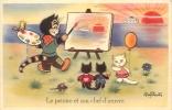 CHATS HUMANISES LE PEINTRE ET SON CHEF D'OEUVRE ILLUSTRATEUR MARY DAESTER - Cats