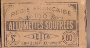 Allumettes/Allumettes soufr�es/R�gie Fran�aise/SEITA/ France/ vers 1935-45             AL10
