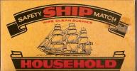 "Allumettes/Safety Ship Match/""House Hold""/vers 1990        AL10 - Boites D'allumettes"