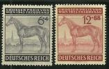 GERMANIA - 3° REICH 1943 - IPPICA Cavalli VIENNA - N.  777 / 78 ** Serie C. - Cat. 2,20 € - L. N. 4540 - Germania