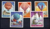 LAOS 1983 **  Y&T 475 à 480 Sauf 481 Ballon - 1er Vol / Balloon 1st Manned Flight / Piccard - Laos