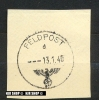 Stempel Auf Briefstück, Feldpost 13.1.40 - Service