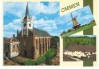 Nederland/Holland, Ommen, Ned. Herv. Kerk, 3-luik, Ca. 1980 - Ommen