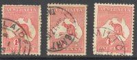 AUSTRALIA, 1913 1d VFU (three Types: Die I, Die II, Die IIa) - 1913-48 Kangaroos