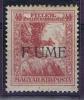 Fiume Sass  3 D  Unused,soprastampe F UME, Letter I Missing, C.V. € 220 - 8. Occupazione 1a Guerra
