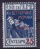 Fiume Sass 137 A, Azzurro  Unused, MH Neuf*, - 8. Occupazione 1a Guerra