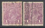 AUSTRALIA, 1918 1d (both Shades) - Gebruikt