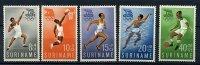Surinam * N° 336 à 340 - J.O. De Rome (poids, Basket, Course, Natation, Foot) - Peru