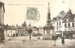 CPA GOURNAY EN BRAY La Fontaine Et La Place Nationale Animée Commerçants 1907 - France