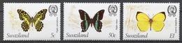 Swaziland 1982 Mi# 392+ 394+ 395** BUTTERFLIES - Swaziland (1968-...)
