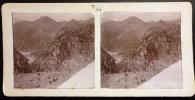 PHOTO STEREO 1900 : LE VAR ET VESUBIE PRES DE LEVENS MONTAGNE VALLEE DU VAR 83 - Stereoscopio