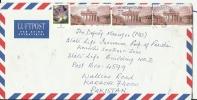 Germany 55c 2007 -- Brandenburg Gate, Carl Langhans (Scott 2464), Flower, Airmail To Pakistan - Berlin (West)